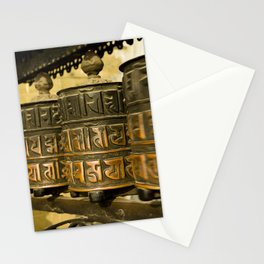 Tibetan Prayer Wheel Nepal Temple Stationery Cards