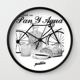 Pan Y Agua Wall Clock