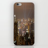 hong kong iPhone & iPod Skins featuring Hong Kong by Annie Lynch