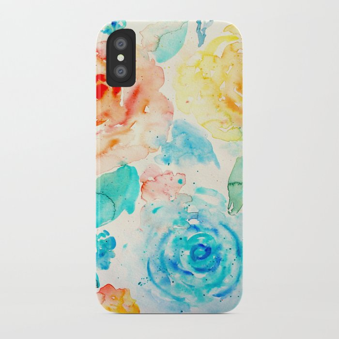 Abstract Flowers 04 iPhone Case