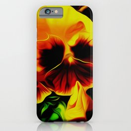 Painted Pansy - Red and Yellow iPhone Case