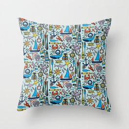 Nautical Drifts Throw Pillow