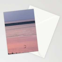 Pink and Lavender Sunrise Over Monomoy Island Stationery Cards