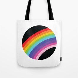 Circular Rainbow Tote Bag