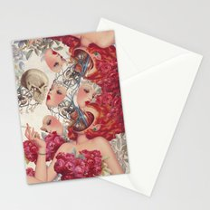 face to face *collage Stationery Cards