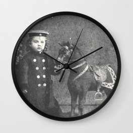 1876 Boy with Toy Horse Wall Clock