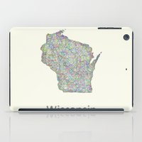 wisconsin iPad Cases featuring Wisconsin map by David Zydd