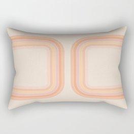 Tangerine Tunnel Rectangular Pillow