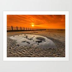 Blazing Sands Art Print