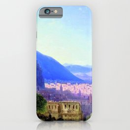 View of Tiflis by by Ivan Aivazovsky Landscape Painting iPhone Case