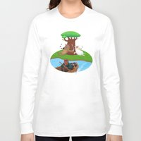 marijuana Long Sleeve T-shirts featuring Wolf lamb marijuana by gunberk