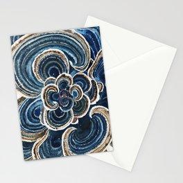 Blue Trametes Mushroom Stationery Cards