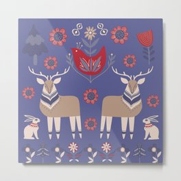 Scandinavian Winter Pattern #society6 #buyart Metal Print