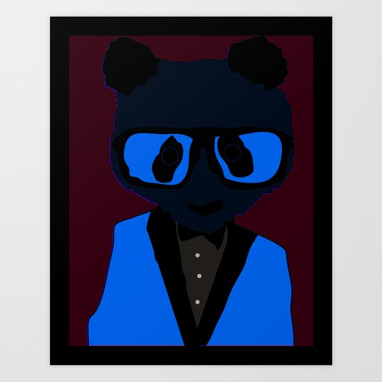 Panda Geek Chic Art Print