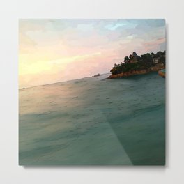 Summertime sunset in Dinard Metal Print