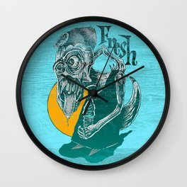 Fresh Blue Ice Cream Wall Clock
