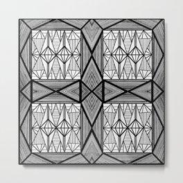Diamonds and Octagons Metal Print