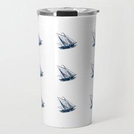 Nautical Marine Anchor Ship Seamless Pattern Travel Mug