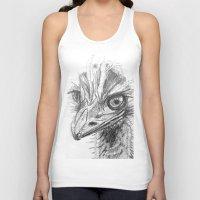 ostrich Tank Tops featuring Ostrich  by Juliette Caron