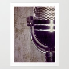 Vintage Microphone (scratched) Art Print