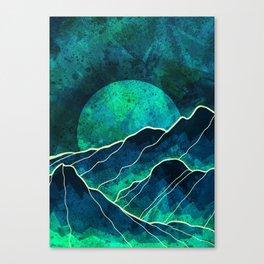 As a new moon rises Canvas Print