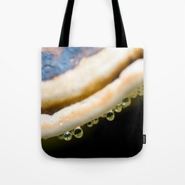 Waterdrops on Forest Fungus Tote Bag