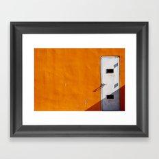 Orange Wall Framed Art Print
