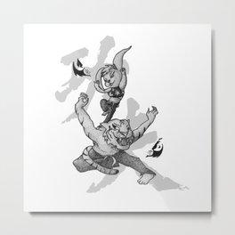 KungFu Zodiac - Tiger and Rabbit Metal Print