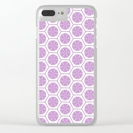 Hex Pattern 72 - pink Clear iPhone Case