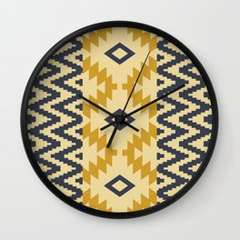 Ion in Gold Wall Clock