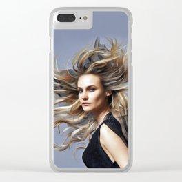 Diane Kruger - Celebrity Art Clear iPhone Case