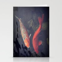 koi fish Stationery Cards featuring Koi Fish by KunstFabrik_StaticMovement Manu Jobst