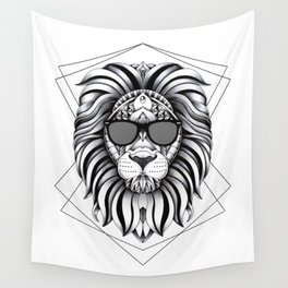 Ornate Cool Lion Wall Tapestry