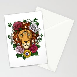 Psychedelic Trippy Lion Stationery Cards