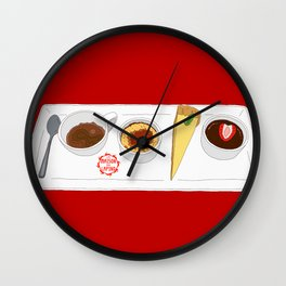 Café Gourmet Set Wall Clock