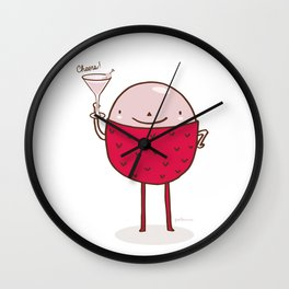 Lychee Martini Wall Clock