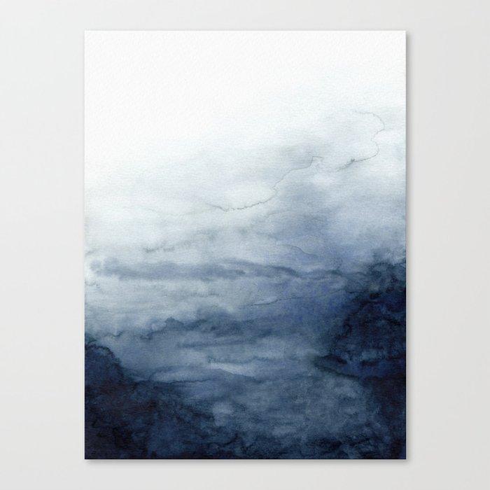 Indigo Abstract Painting | No.2 Leinwanddruck