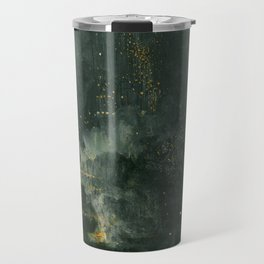 Nocturne In Black And Gold The Falling Rocket By James Mcneill Whistler   Reproduction Travel Mug