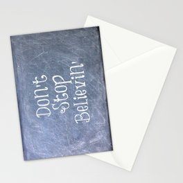 Don't Stop Believin' Stationery Cards