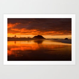 Storm Sunset Art Print