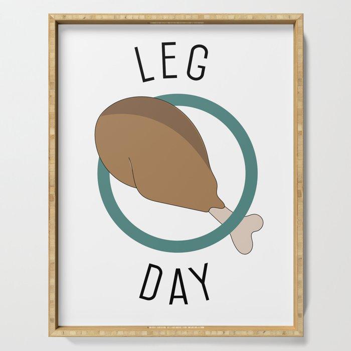 Leg Day Serving Tray