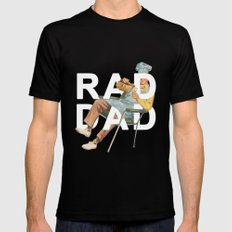 Rad Dad Black Mens Fitted Tee LARGE