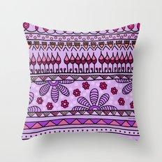 Yzor pattern 001 pink Throw Pillow