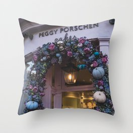 Cute Cafes Throw Pillow