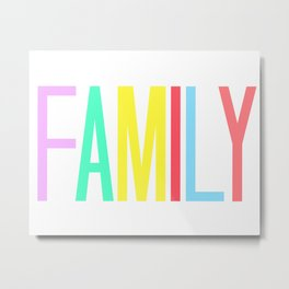 FAMILY bright colors 8x10 Metal Print