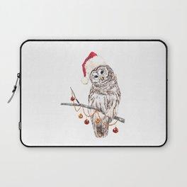 Christmas Owl GREETING Laptop Sleeve