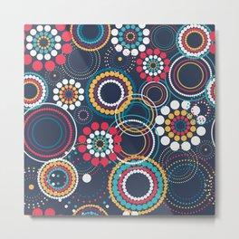 Flowers of Circles Metal Print