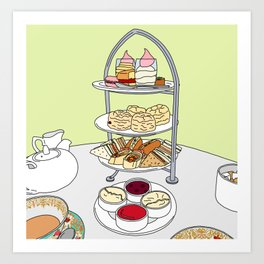 English Afternoon Tea Art Print