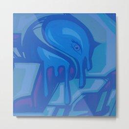 Blue Melt Metal Print