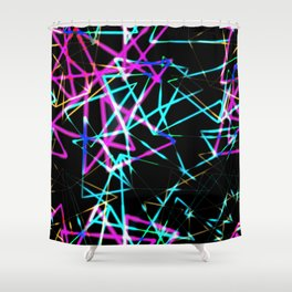 Neon lights Shower Curtain